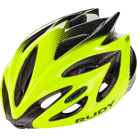 Rudy Project Rush Kask rowerowy, yellow fluo/black shiny